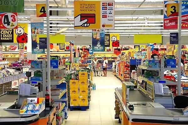 Працівник супермаркету Biedronka